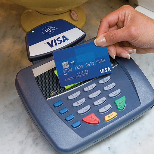 Visa card using Visa payWave