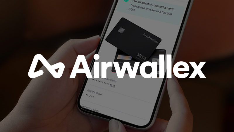 Airwallex app on smartphone.
