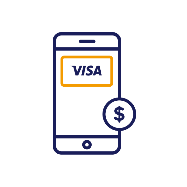 Does it cost me anything to use Visa on my mobile?